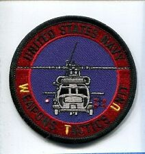 WTU WEAPONS TACTICS UNIT US Navy Helicopter Squadron Jacket Patch