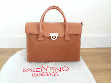 VALENTINO TAN HANDBAG FAUX SUEDE LEATHER MIX NEW WITH LABELS