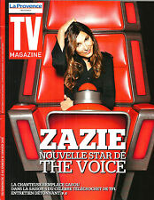 TV MAGAZINE N°21897 4 JANVIER 2015  ZAZIE/ THE VOICE/ ELBAZ/ LA LIBERATION