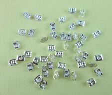200pcs fashion Silver plated Backs Earring Stoppers Findings 5mm