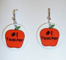 *TEACHER* Earrings or PERSONALIZE with YOUR NAME or PHOTO - FUN!! Personalised