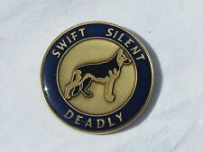 US Military Combat K-9  Swift Silent Deadly Challenge Coin