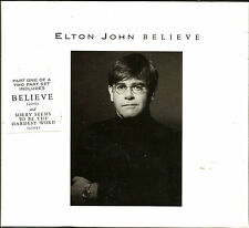 ELTON JOHN Believe w/ 2 RARE LIVE LIMITED Rare BOX PACKAGE UK CD single SEALED