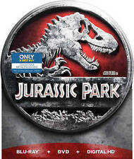 Jurassic Park Blu ray DVD Digital HD Steelbook Metal Tin RARE Exclusive Sealed