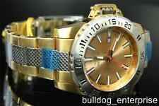 Mens Invicta Specialty Python Gold Two Tone Steel Bracelet Watch New 15296