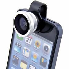 180 Fish Eye Detachable Clip-on Lens Camera Cover for iphone 4 4S 4G 5 Samsung