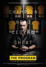 "LANCE ARMSTRONG ""THE PROGRAM"" 2015 MOVIE PROMO CYCLING POSTER"