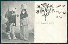 Sassari Olbia Tempio Pausania Costumi Militari cartolina QT2405
