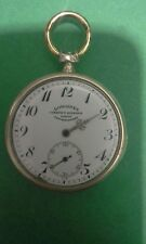 Longines pocket watch old antique, beautiful dial, 900 silver, for repair, runs
