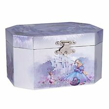 Purple Castle Musical Music Jewelry Box with Dancing Spinning Ballerina Plays