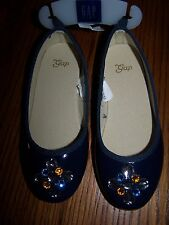 NWT GAP KIDS Blue with Jewel Accent Slip-On Dress SHOES SIZE 11 Free US Shipping