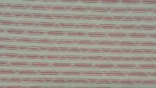 RED AND WHITE COTTON TICKING STRIPE QUILTED UPHOLSTERY FABRIC KAUFMANN
