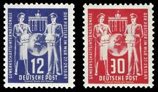 EBS East Germany DDR 1949 Postal Union Workers Meeting Michel 243-244 MH*