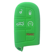 Green Silicone Key Fob Case Cover Fob Keyless Remote Holder fit for JEEP DODGE