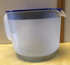 Tupperware 1629e Batter Sheer Measuring Bowl Blue Lid 8 Cup Mix & Store 3 Piece