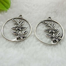 Free Ship 52 pcs tibet silver flower pendant 33x29mm #353