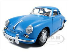 1961 PORSCHE 356B COUPE BLUE 1:18 DIECAST MODEL CAR BY BBURAGO 12026