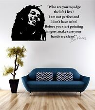 Bob Marley Life I Live Wall Art Sticker Quote Decal Vinyl Transfer