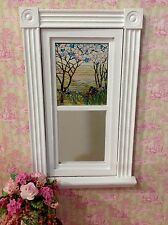 Spring Trees & Iris Dollhouse Miniature Victorian  Stained Glass Window film