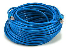 Monoprice 100FT 26AWG Cat6A 500MHz STP Bare Copper Ethernet Network Cable - Blue