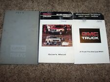 1986 GMC Suburban Jimmy Owner Operator Manual C1500 C2500 K1500 K2500 V8 Diesel