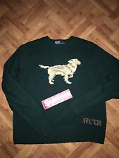 VINTAGE 2001 POLO RALPH LAUREN SWEATER RRL SPORT BEAR PWING RUGBY