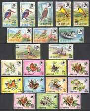 Lesotho 1986 Surcharges/Birds/Butterflies 21v  (n21913)