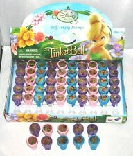 60 pcs Disney Tinkerbell Self inking Rubber Stamper Pencil Topper Wholesale Lot
