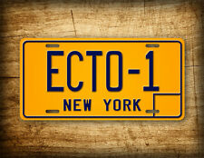 "Ghostbusters Movie Replica License Plate ""ECTO-1"" New York Vintage Auto Tag Prop"