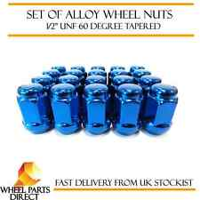 "Alloy Wheel Nuts Blue (16) 1/2"" UNF Tapered for Ford Mustang 2004-2015"