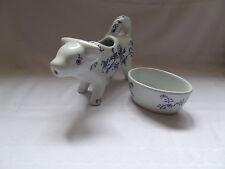 Porzellan Milchkanne Kuh Milchkännchen Sahnekännchen mit Zuckerschale