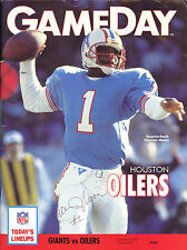 WARREN MOON AUTOGRAPHED GAME DAY PROGRAM! HALL OF FAME! FREE SHIP!