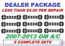 2007,2008,2009,2010,2011,2012,2013 A/C BUTTON STICKERS DECALS GM CHEV TRUCKS SUV