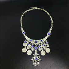 Vintage Ethnic Tribal Boho Coin Pendant Necklace Bohemian Gypsy Chain Jewelry