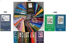 Italia 1998 1999 2000: Tessere Filateliche [3 Annate Complete] con le 2 Sydney