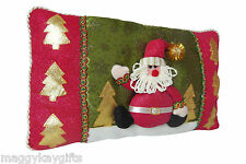 SPARKLY SANTA Christmas Cushion - Red - Novelty - Living Room - Decoration