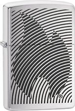Zippo Illusion Flame Brushed Chrome WindProof Lighter NEW 29429