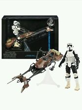 "STAR Wars Il NERO SERIE Speeder Bike Biker Scout 6"" Figura UK STOCK ORIGINALE"