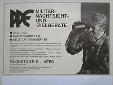 2/1976 PUB PILKINGTON PE NACHTSICHT NIGHT VISION VISION NOCTURNE GERMAN AD