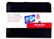 Mundi Women MINI WALLET Mundi Faux Leather Ladies RFID Clutch Black I688X
