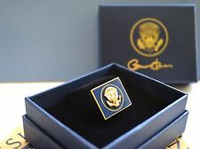 OBAMA VIP SQUARE COBALT & GOLD WHITE HOUSE PRESIDENTIAL SEAL LAPEL PIN~MIB