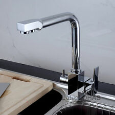 Luxury Pure Drinking Water Supply Spout 3 Way Kitchen Sink Faucet Mixer Tap 1035