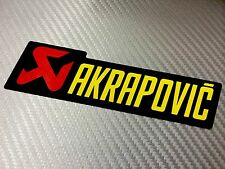 Adesivo Sticker AKRAPOVIC Alte Temperature High Temperatures Exhaust