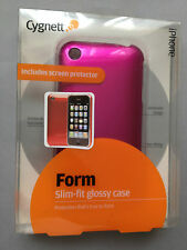 CYGNETT FORM SLIM-FIT GLOSSY PLASTIC BACK CASE / COVER FOR APPLE iPHONE 3 3GS