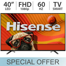 "Hisense 40"" 1080p FULL HD 60Hz Class LED Smart TV w/ 2 HDMI & WiFi 40H5B - NEW"