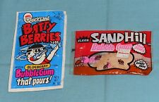 vintage Fleer QUICKSAND BATTY BERRIES & SANDHILL BUBBLE GUM sealed packages
