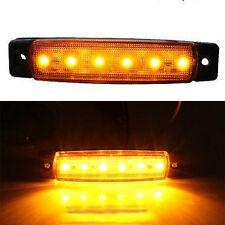 Useful 12V 6LED SMD Side Marker Indicators Lights Orange Amber for Truck Trailer