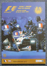 FRENCH GRAND PRIX 1999 FORMULA ONE F1 Magny Cours Motor Sport Official Programme