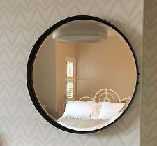 Miroir Rond Métal 55cm dia: Urbain Vintage Industriel Rustique Matures rouillé