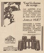 Z8525 Jumelle HUET - Paris - Pubblicità d'epoca - 1931 Old advertising